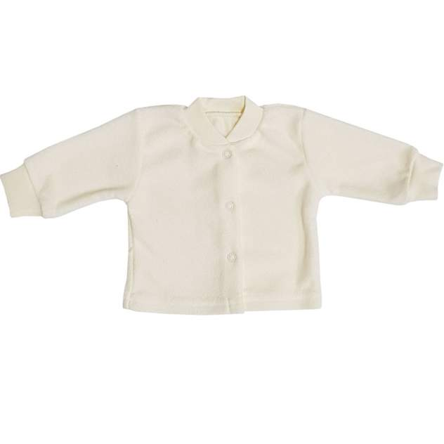 Кофта детская Папитто на кнопках бежевый с начесом р.18-50