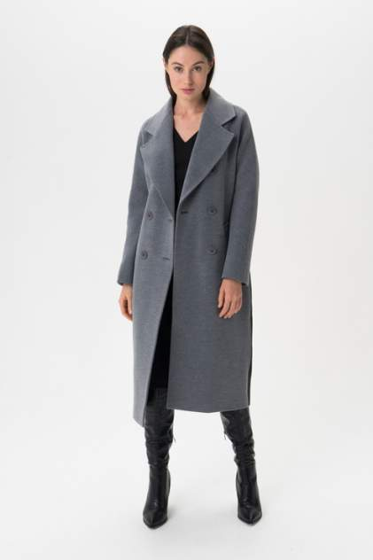 Пальто женское ElectraStyle 5-8117/4-128 голубое 40 RU