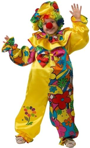 Карнавальный костюм JEANEES Клоун, цв. разноцветный р.122