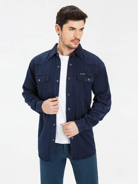 Джинсовая рубашка мужская Velocity PRIME 16-V34 синяя XXL