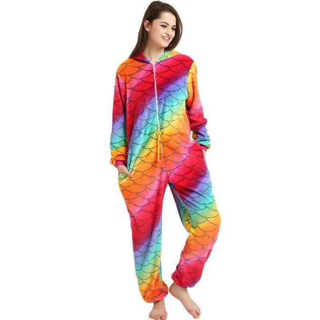 Кигуруми Multi-Shops Единорог Чешуйчатый, разноцветный