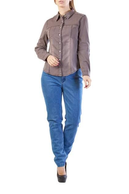 Женская джинсовая рубашка LAFEI-NIER T462068-1F, коричневый