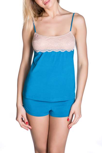 Топ женский Rose&Petal Homewear RP55-7139 синий XS