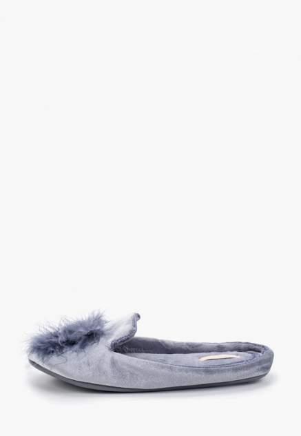 Домашние тапочки женские Halluci Пушистики синие 36-37 RU