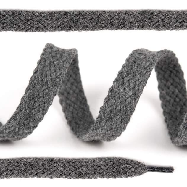 Шнурки для обуви плоские х/б 15 мм х 150 см 029 серые 10 комплектов