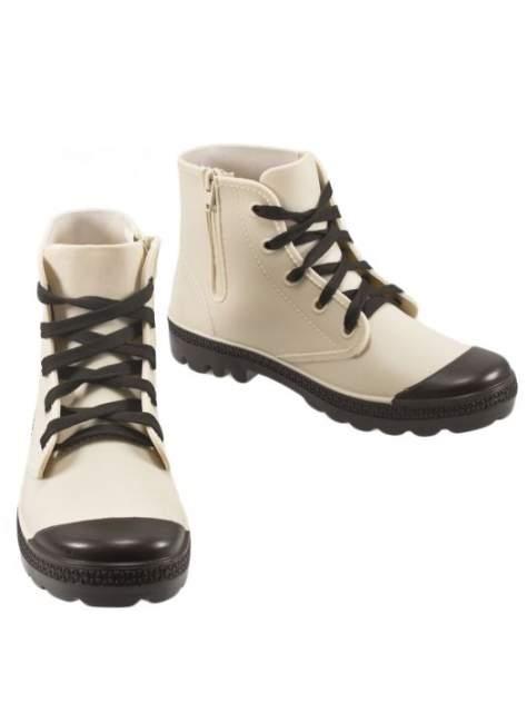 Резиновые ботинки женские Jerado 802-9 бежевые 38 RU