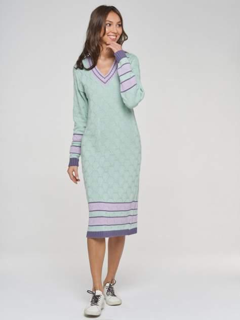 Платье женское VAY 192-2426 зеленое 52 RU