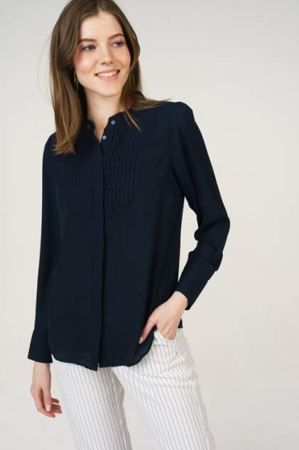 Рубашка женская Jacqueline de Yong 15173751 синяя 40 FR