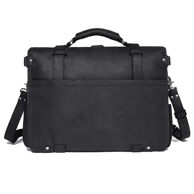 Портфель мужской кожаный Кошелькофф 7072BK черный