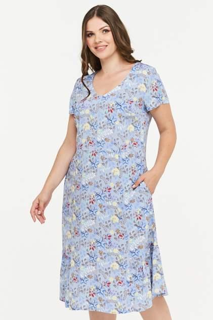 Платье женское VAY 181-3433 голубое 48 RU