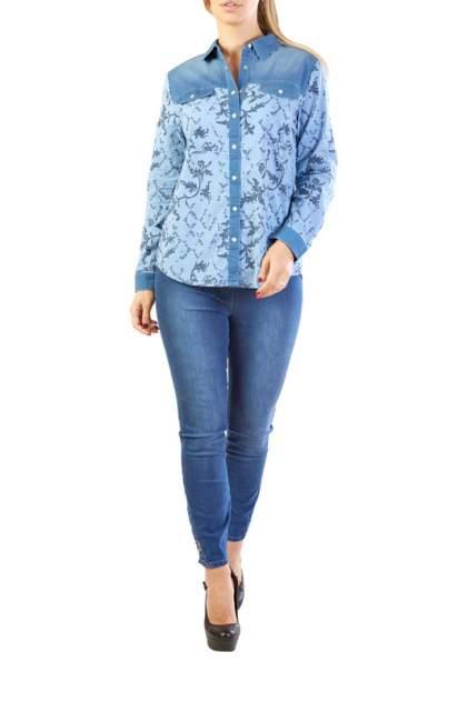 Рубашка женская LAFEI-NIER H722872-JS голубая 2XL