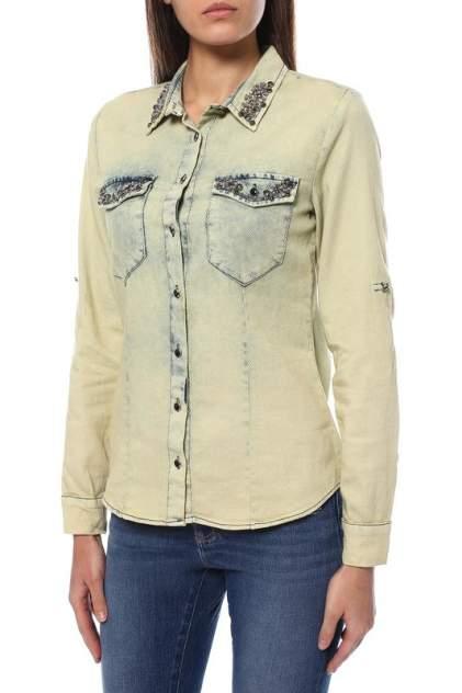 Рубашка женская EMANSIPE 5533124 желтая 44 RU