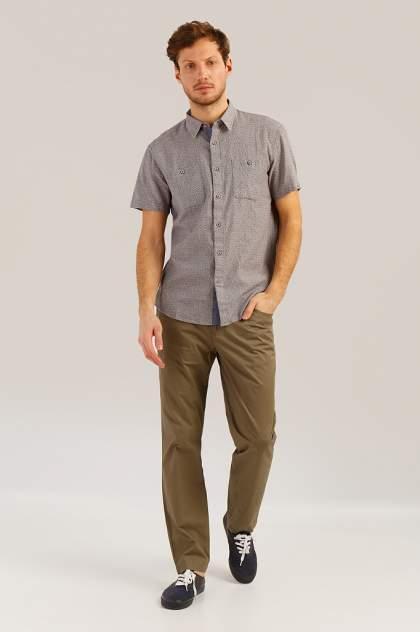 Рубашка мужская Finn Flare S19-42011 серая M