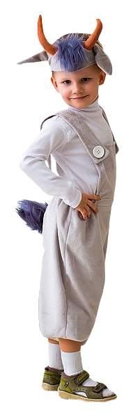Карнавальный костюм Бока Коза, цв. серый р.122