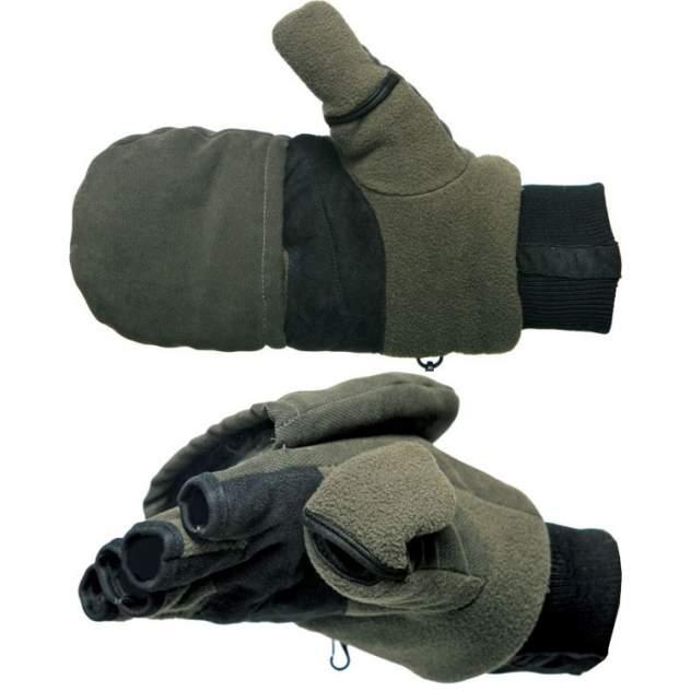 Перчатки-варежки Norfin Magnet, зеленые, XL