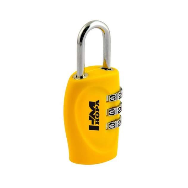 Замок навесной кодовый Нора-М 504 для чемодана - Желтый - 30 мм
