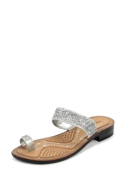 Шлепанцы женские T.Taccardi 710018132 серебристые 39 RU