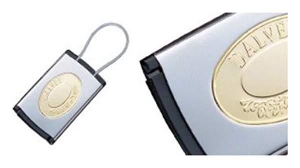 Бирка для багажа Dalvey Сталь/Латунь 405 золотистая/серебристая