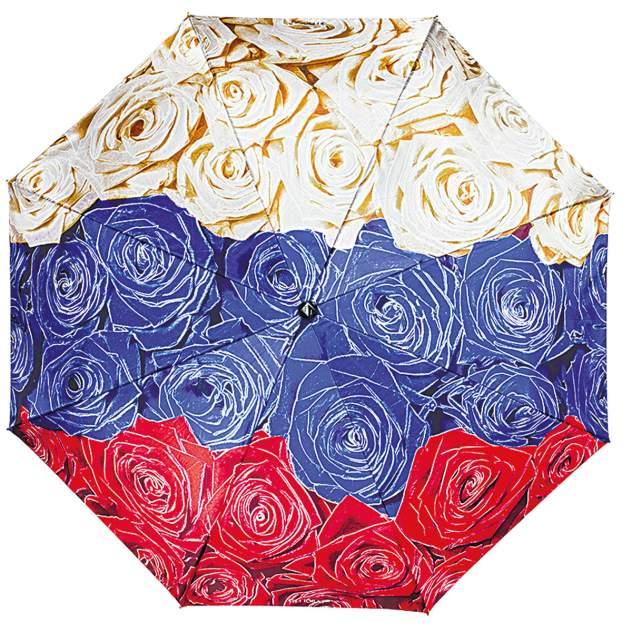 Зонт складной женский автоматический Flioraj 231202 FJ белый