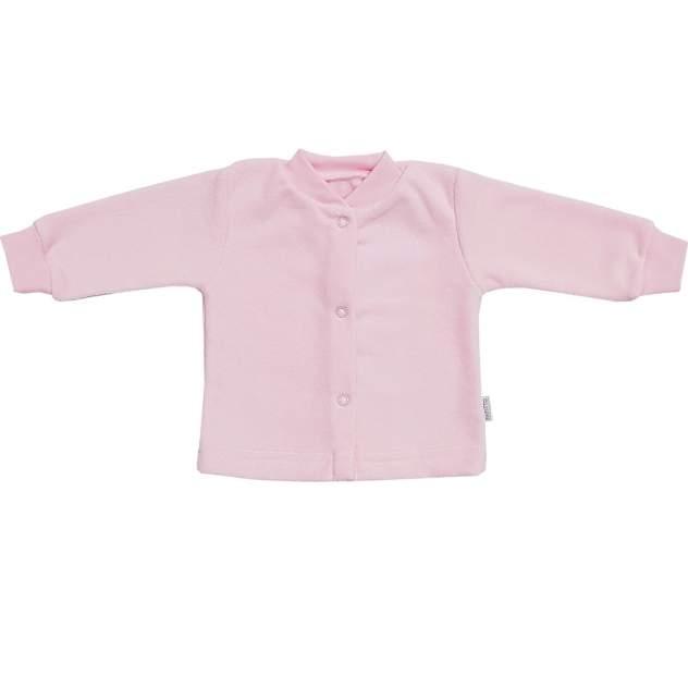 Кофта детская Папитто на кнопках розовый с начесом р.18-50