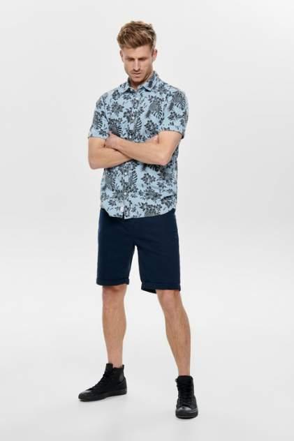 Рубашка мужская ONLY & SONS 22012655 синяя M