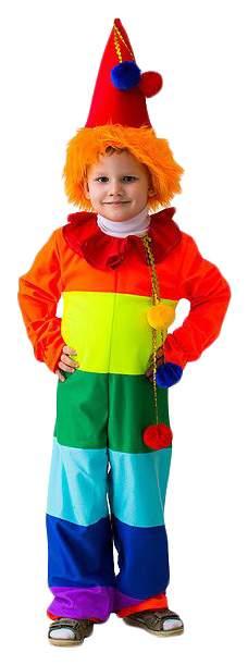 Карнавальный костюм Бока Клоун, цв. разноцветный р.122