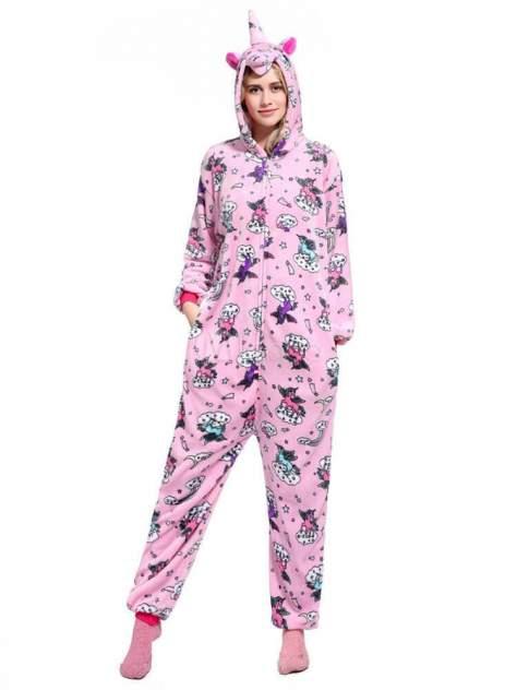 Кигуруми Multi-Shops Единорог Небесно-Розовый на молнии S (рост 145- 155 см)