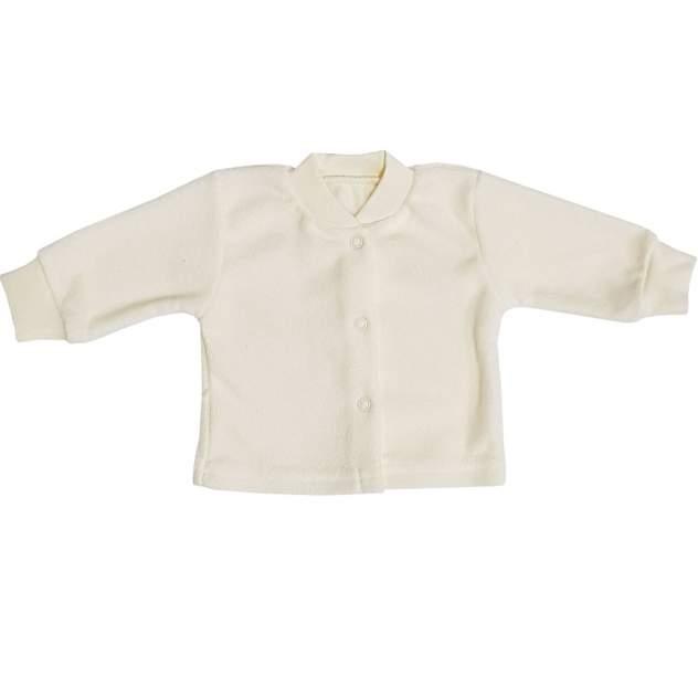 Кофта детская Папитто на кнопках бежевый с начесом р.20-56
