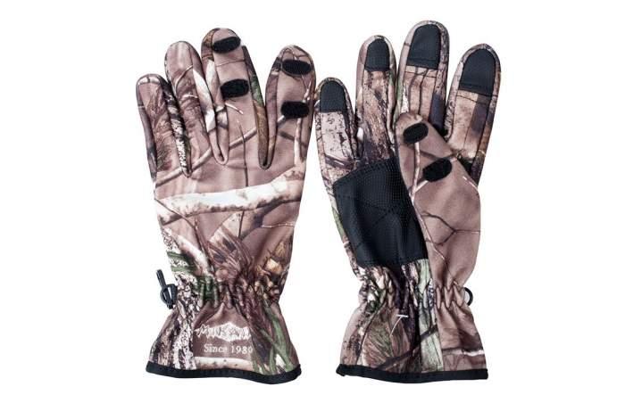 Перчатки мужские Mikado UMR-07, бежевые/коричневые, L
