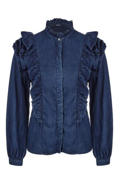 Женская джинсовая рубашка ONLY 15150148 dark blue denim, синий