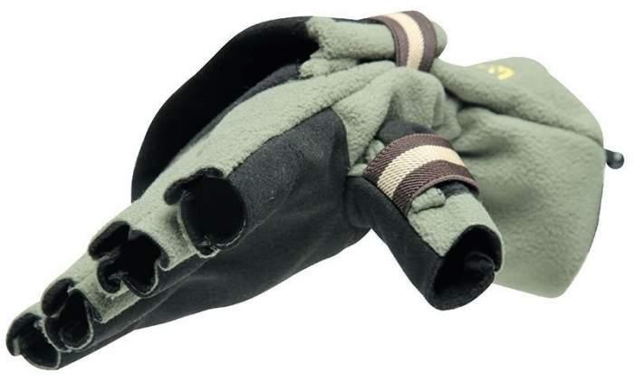 Перчатки-варежки Norfin Nord, зеленые, L