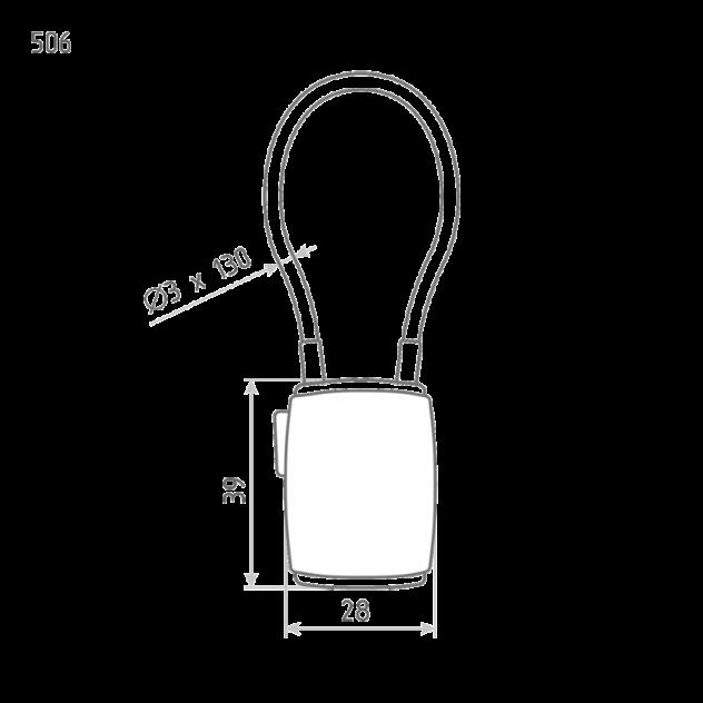 Замок навесной кодовый Нора-М 506 для чемодана - Фиолетовый - 28 мм