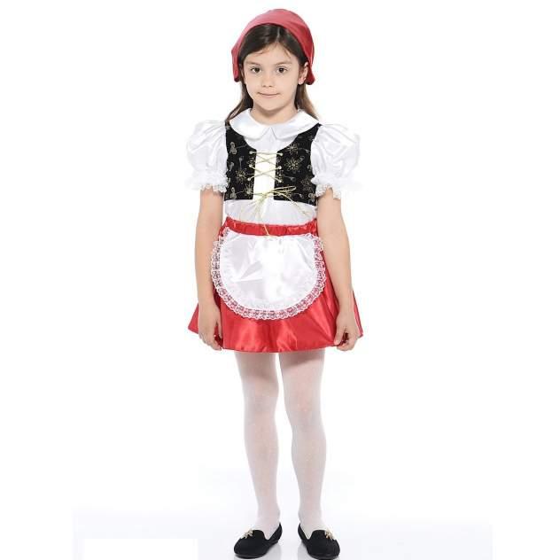 Карнавальный костюм Батик Красная Шапочка, цв. красный р.104
