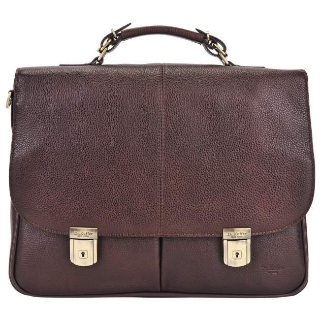Портфель мужской кожаный Dr. Koffer B393160-02-09 коричневый