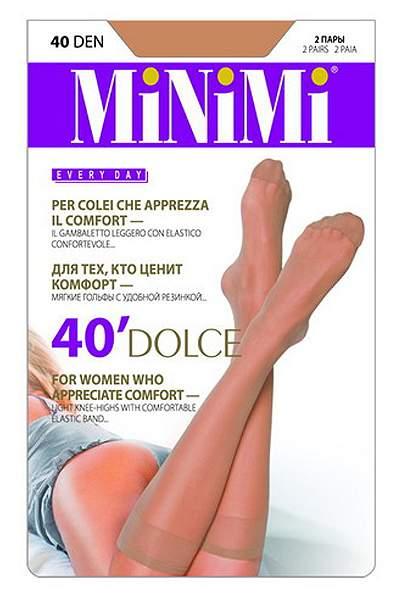 Комплект капроновых гольфов женский MiNiMi Dolce 40 д бежевый one size