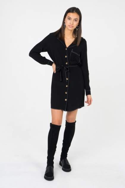 Платье-рубашка женское ONLY 15178591 черное 36 EU