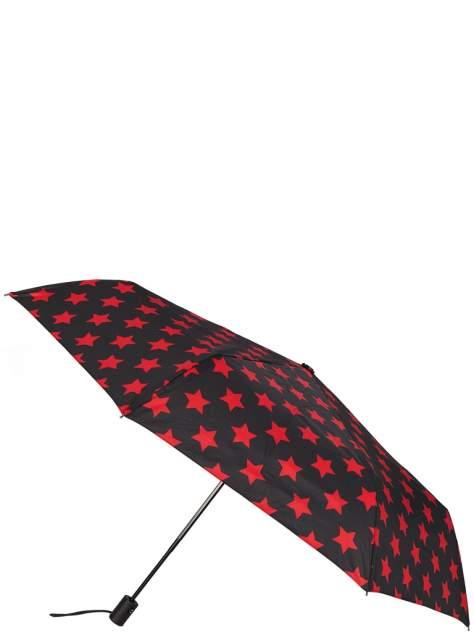 Зонт складной женский автоматический Labbra 01-00026580 черный/красный