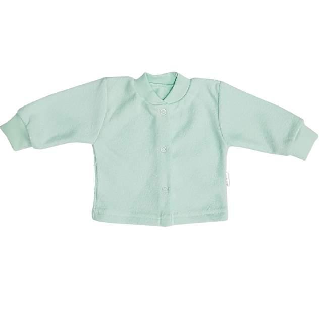 Кофта детская Папитто на кнопках бирюзовый с начесом р.20-56