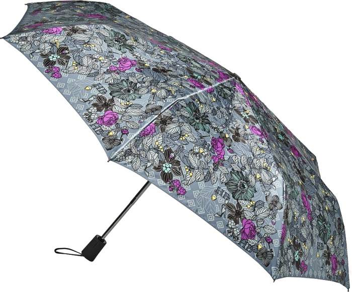 Зонт складной женский автоматический Henry Backer Q2102 серый