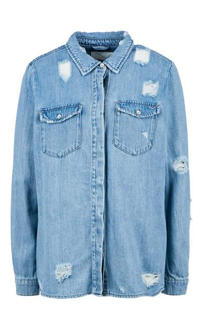 Женская джинсовая рубашка ONLY 15170141 light blue denim, синий