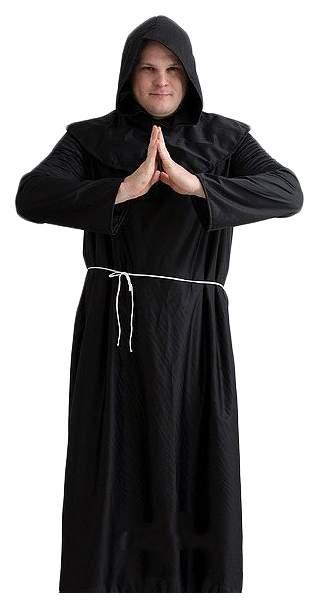 Карнавальный костюм Бока Монах, цв. черный р.176