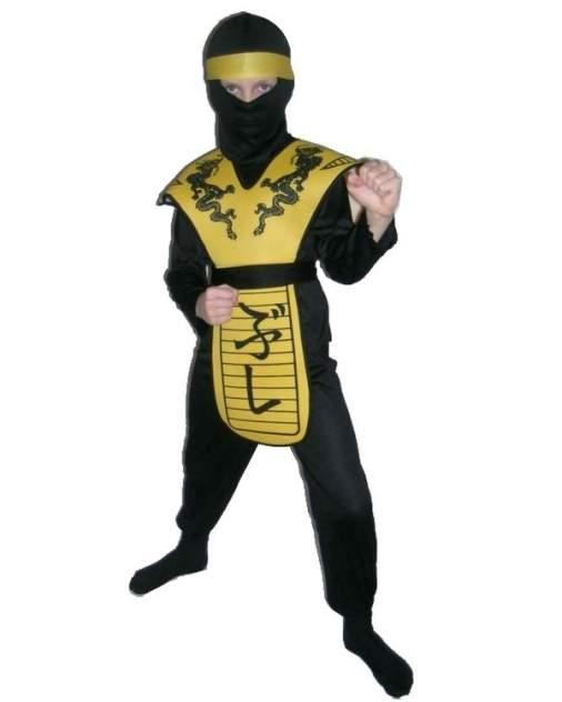 Карнавальный костюм Snowmen Ниндзя, цв. желтый; черный р.110