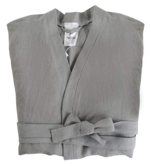 Халат из умягченного льна серого цвета EssentialM