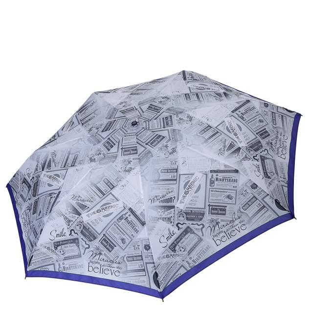 Зонт складной женский автоматический FABRETTI P-18101-6 голубой