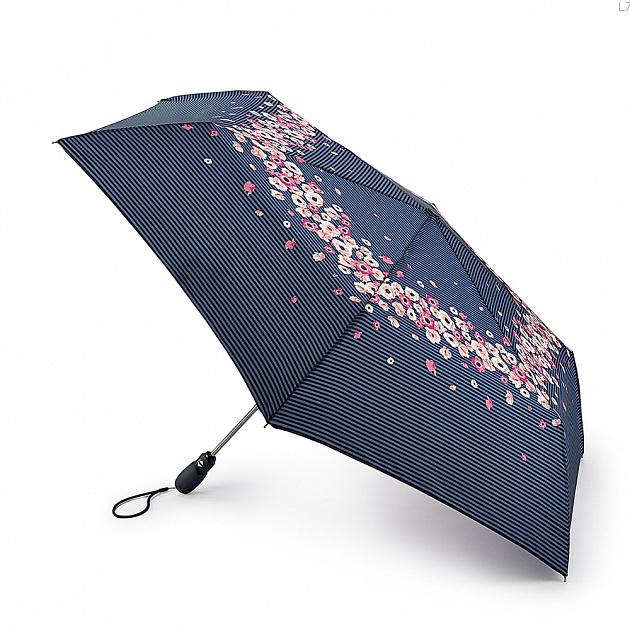 Зонт складной женский автоматический Fulton L711-3634 синий