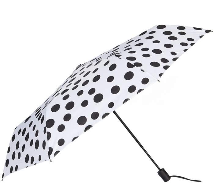 Зонт складной женский автоматический Labbra 01-00026582 белый/черный