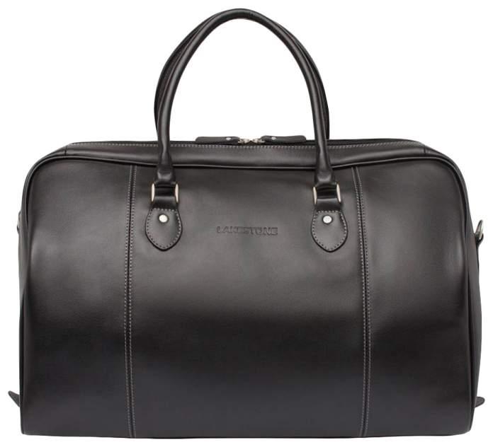 Дорожная сумка кожаная Lakestone Davis черная 50 x 27 x 31