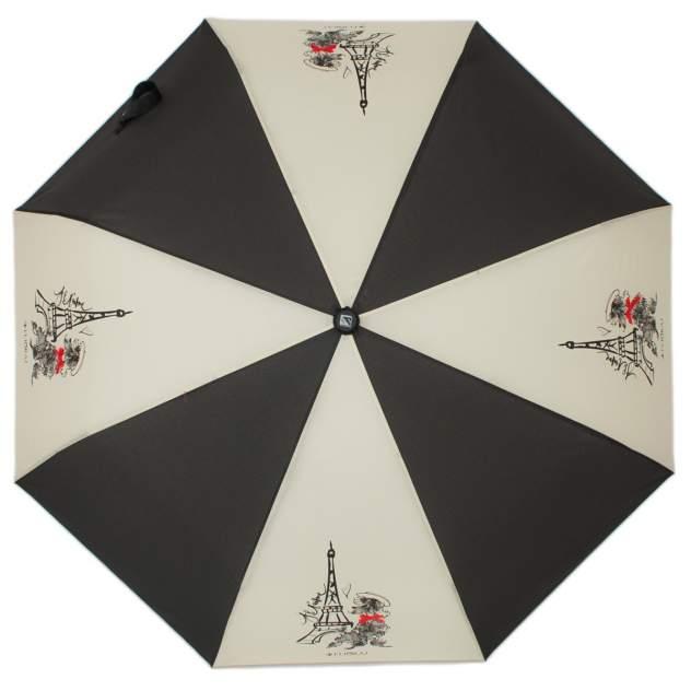 Зонт складной женский полуавтоматический Flioraj 310100 FJ черный