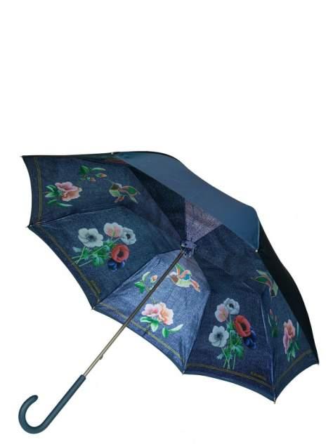 Зонт-трость женский механический Eleganzza 01-00029244 синий