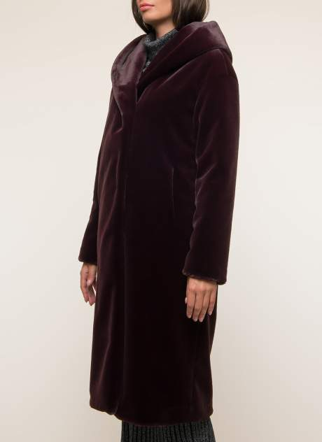 Пальто женское Синар ДОМЕНИЛЬ 906 красное 40 RU